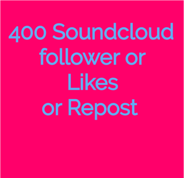 Instant deliver 400 SC follower or likes or repost