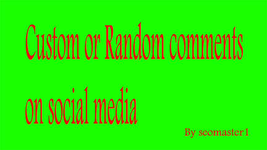 SUPER FAST 60 Custom or Random comments on your post Instant & Real As you likes Promotions