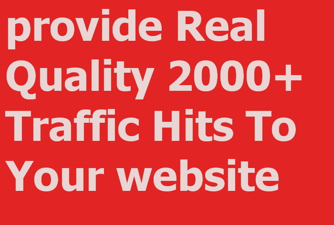 Give you 2000 Real People Traffic Hits on your site