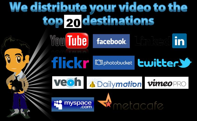 Make 20 Video submissions for your seo