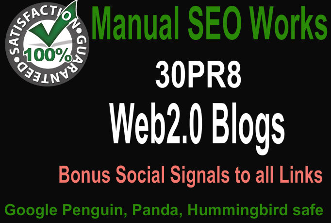 Create Hummingbird Safe 30 PR9 Web2 Blogs with image and diversify anchor text