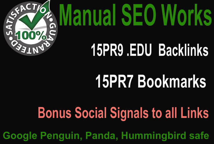Create Hummingbird safe 15 PR9 Edu Gov backlinks and ...
