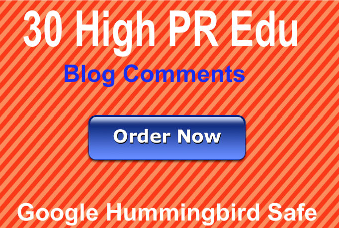 Provide 30 Manual Edu blog comments using High PR actual page best for Seo