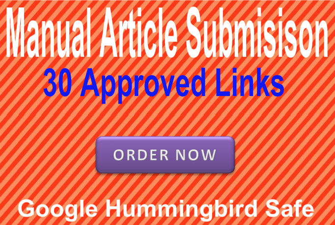 Submit and approve your article in 30 Article directories best for SEO