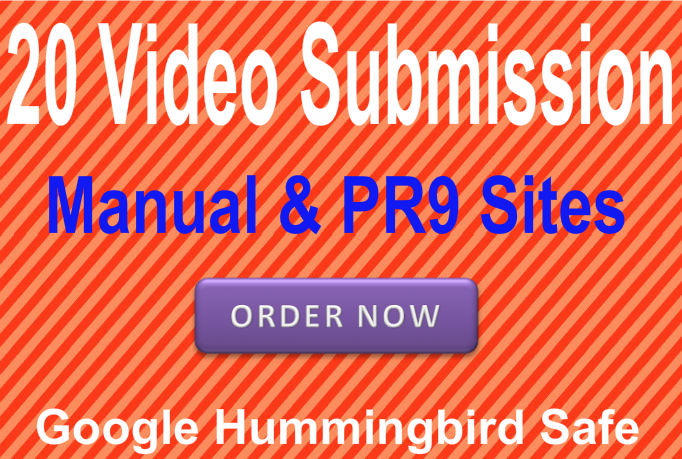 Submit Your Video or Promotional Files in 20 PR9 Video sharing websites