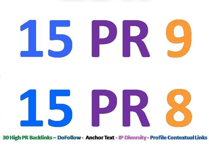 Produce 30 PR8 or above Hyperlinks for your website