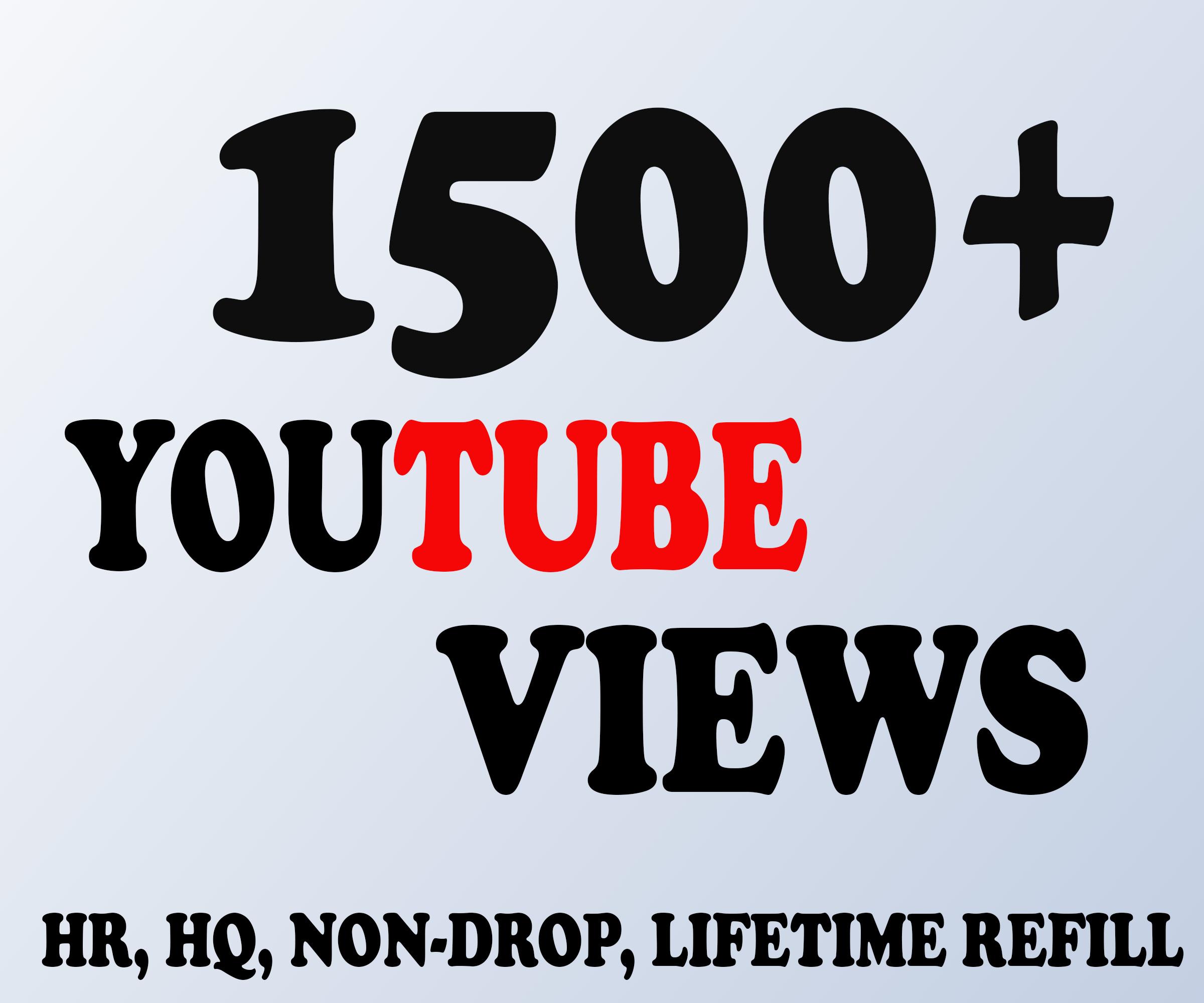 Provide you Non-Drop & Genuine 1500+ Views 30 Likes