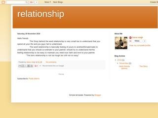 relationship Sponsored Blog Review