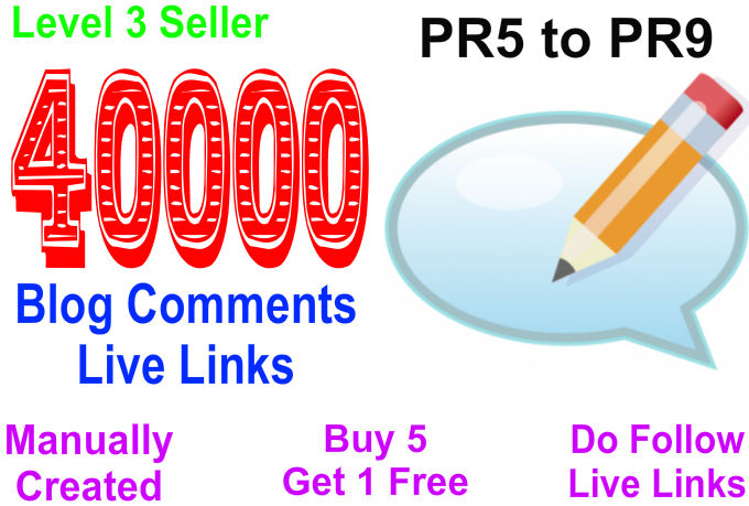 Provide more than 40,000 Blog comments live links for your SEO.
