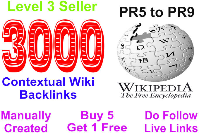 Provide more than 3000 Contextual Wiki Backlinks from 1000 Unique Domains
