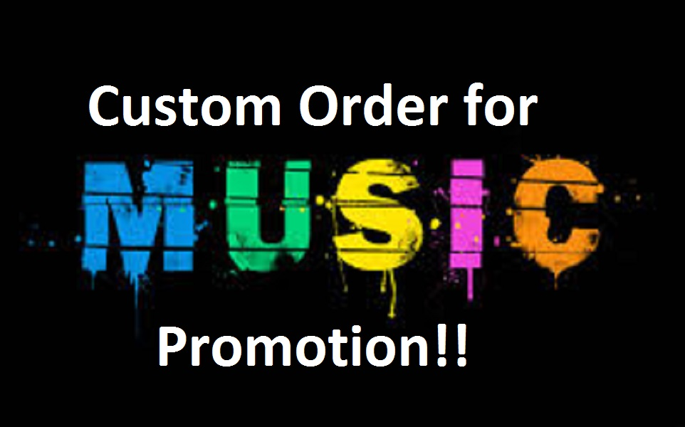 Send me a CUSTOM order for music Promotion