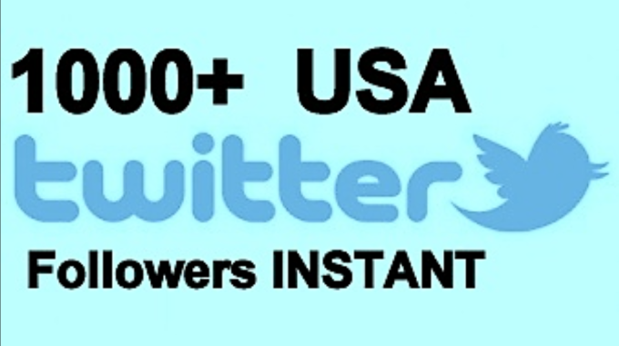 provide you 1000 USA Twitteer Followers Instant