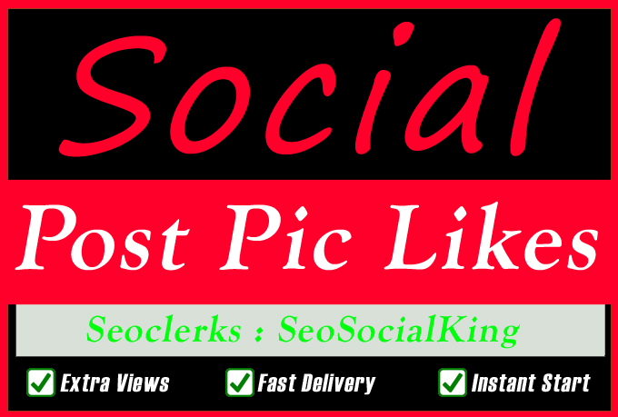 200+ Fast Social Pictures Post Promotion Instantly