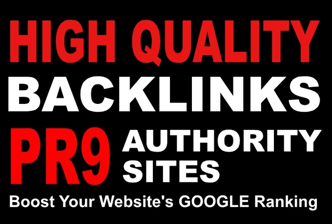 manually create 30 Safe PR9 Backlinks from PR9 Authority sites