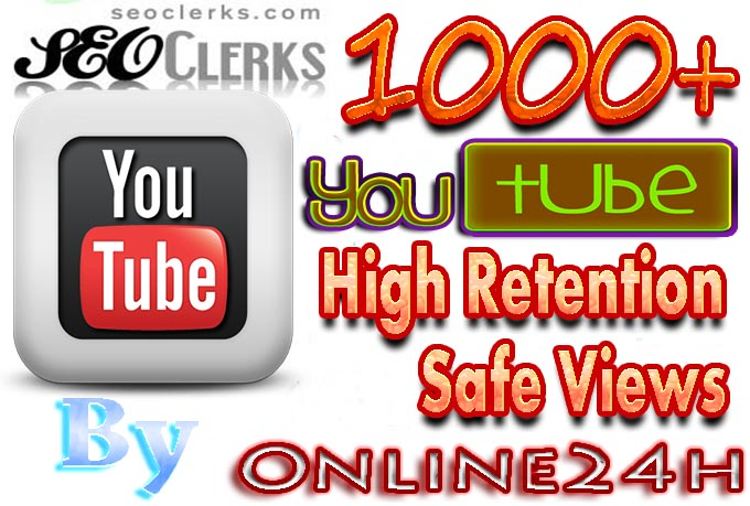 Get You Fast 1000+ High Retention Safe Youtube Views only