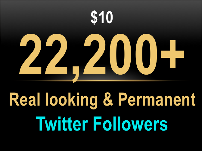 [FEATURED] 22,200 Permanent Twitter Followers in 24 h... for $12