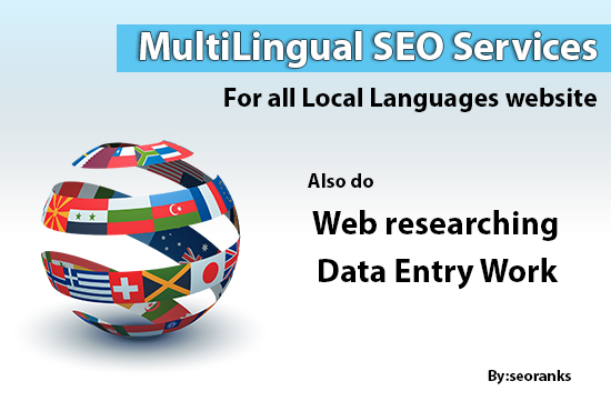 I will provide Multilingual SEO services