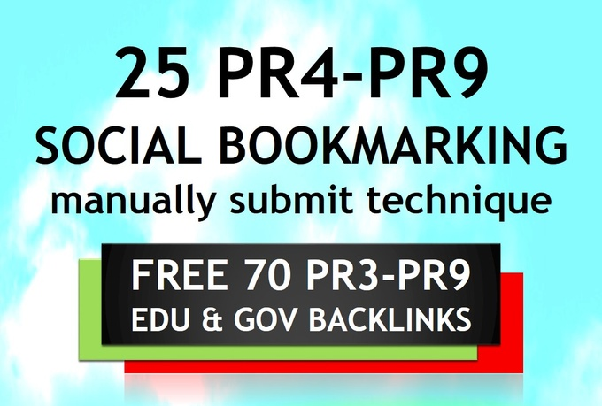 manually Create 25 PR4 to PR9 Backlinks and 70 Edu and Gov Redirect Links