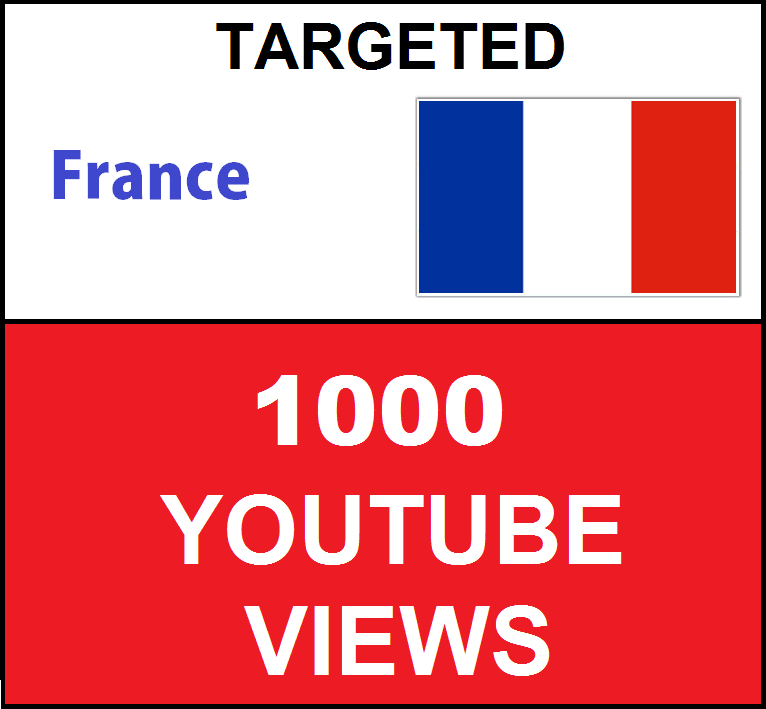 Added 1,000 FRANCE Targeted youtube video boosting