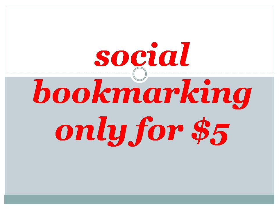 bookmark Manually in TOP 25 Social Bookmarks PR8 to PR4