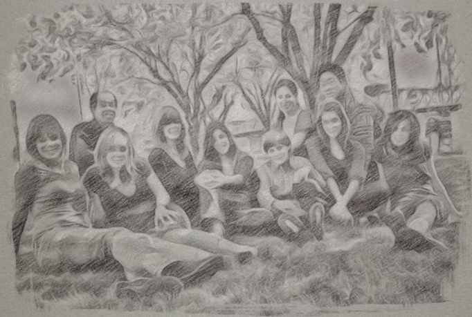 Make a pencil sketch of a picture or family photo
