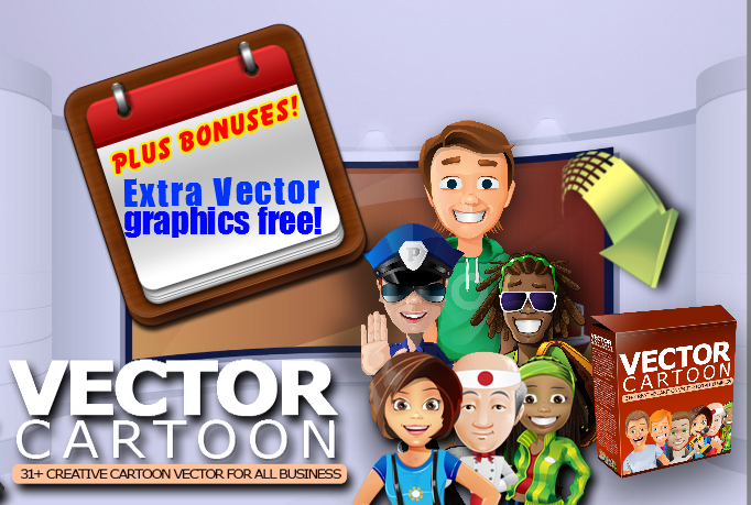 Give you professional CARTOON Vector Graphics