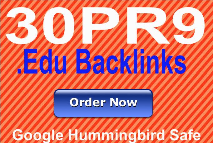 Provide 30 PR9 Edu backlinks from 30 unique PR9 Educationa websites best for Seo