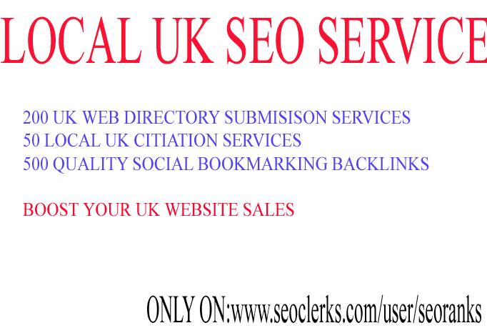 I will provide Local UK seo services