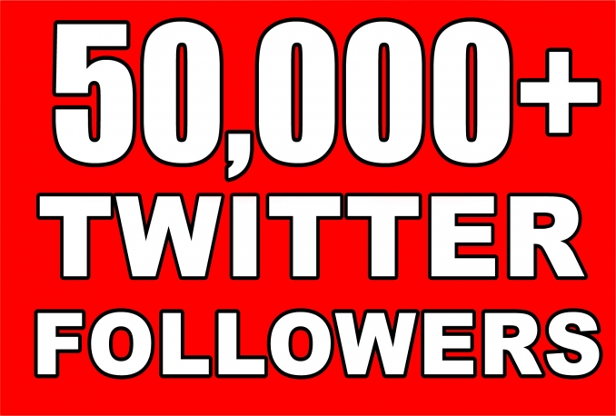 Provide Instantly 50000+ Permanent Twitter Followers Within 48 Hours