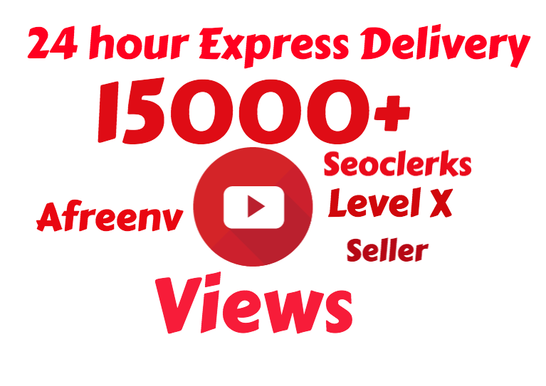 I will add Fast 15,000 High Quality Youtube vie ws