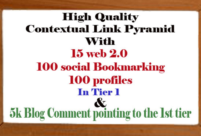 I will run prominent SEO contextual linkbuilding campaign with high pr link pyramid's