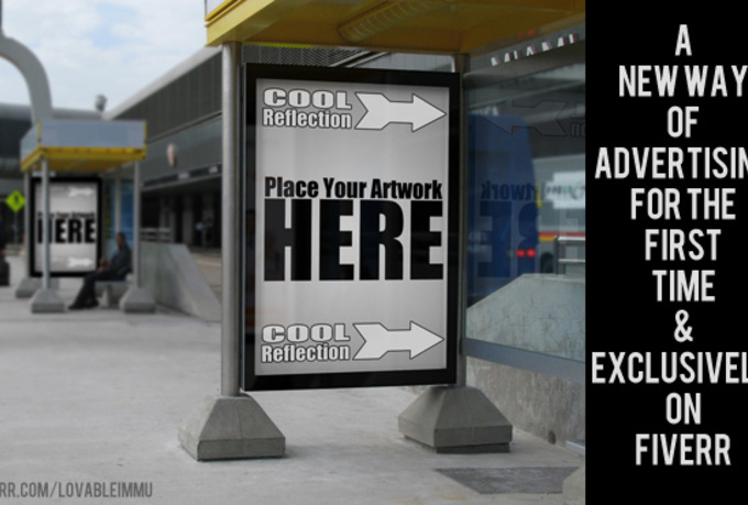 I will do realistic bus stop advertising mockup of any graphics