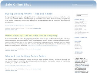 Safe Online Shop