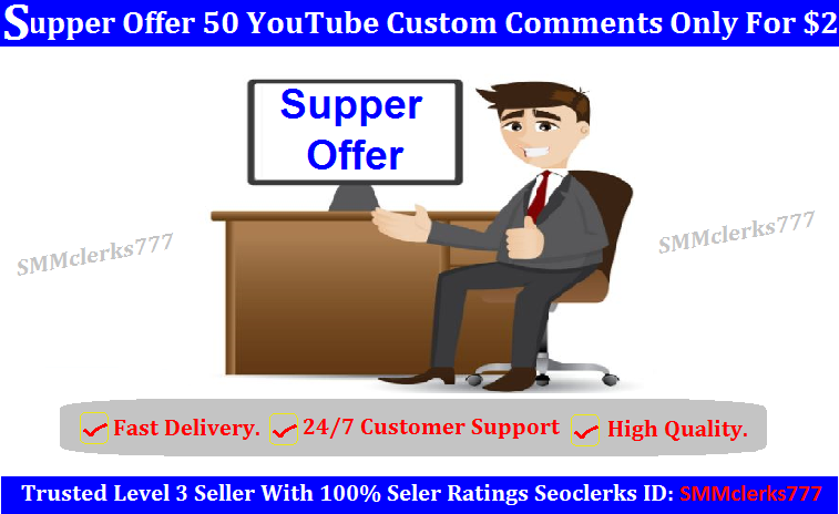 Suffer Offer 50 YouTube Custom Comments Only