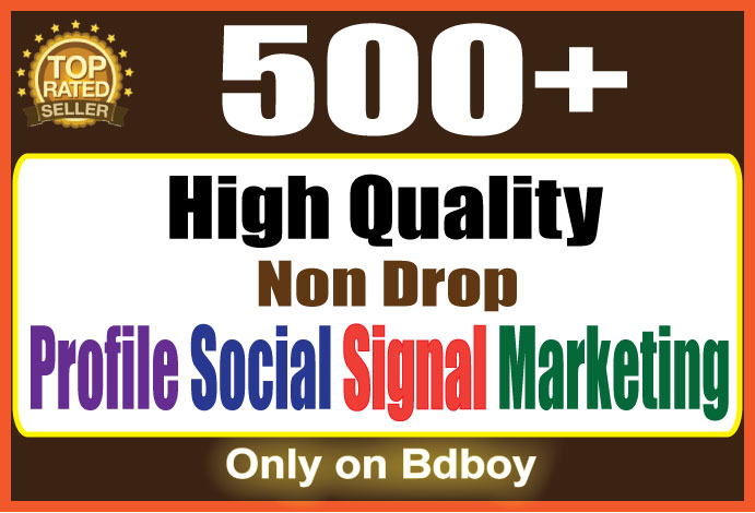 Fast Add 500 Social Signal to your profile