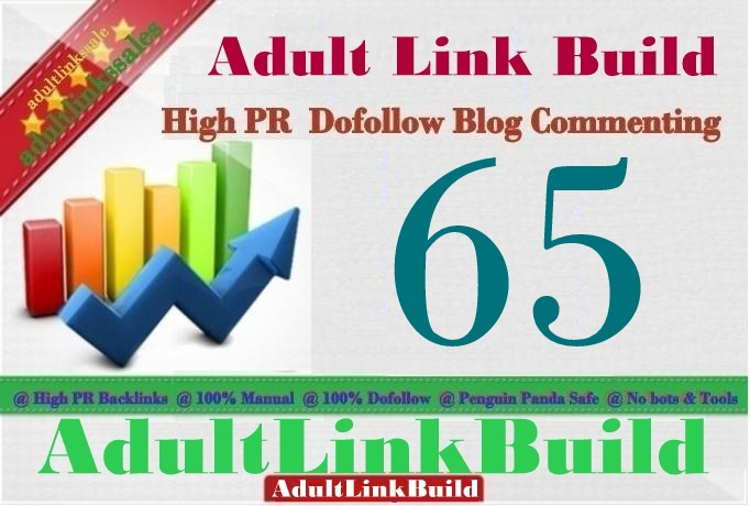 Make 65 SEO Blog Commenting Unique Backlinks Pr2 to Pr7 For AduIt Web