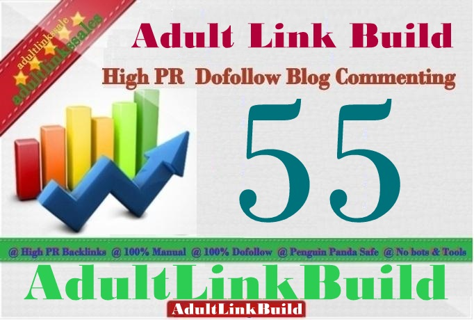 Make 55 SEO Blog Commenting Unique Backlinks Pr2 to Pr7 For Adult