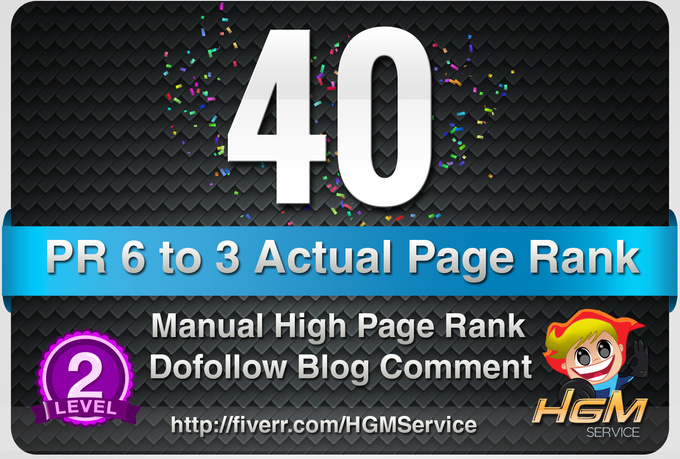 I will make 40 Manual DoFollow Blog Comment Actual PR 6 To 2