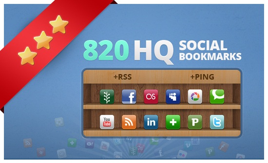 add your site to 820 social bookmarks high quality backlinks + rss + ping