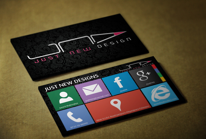 I will design stylish Windows 8 looking business card