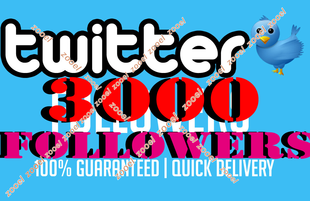 Cheapest & Amazing 3000+ Verified twitter followe... for $1