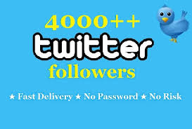 Cheapest & Amazing 4000+ Verified twitter followers ... for $1