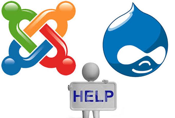 I will do any Joomla or Drupal work or fix errors