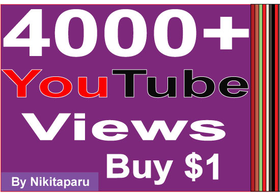 Super Fast HQ 2000+ Non Drop Good retention YouTube Views