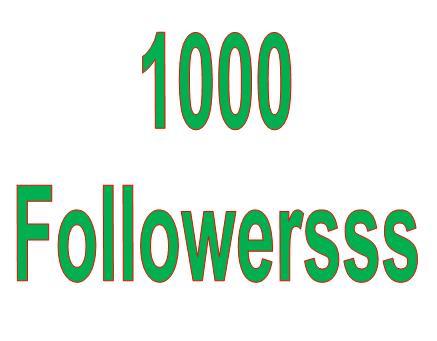 Custom 1000 Profile Folllooooweeerss Promotion with 1 week Refill Guarantee
