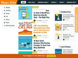 Bloggersutra - Free WordPress Guide, Blogging, SEO ... Sponsored Blog Review