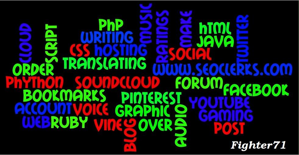 I will manually create beautiful word Clouds