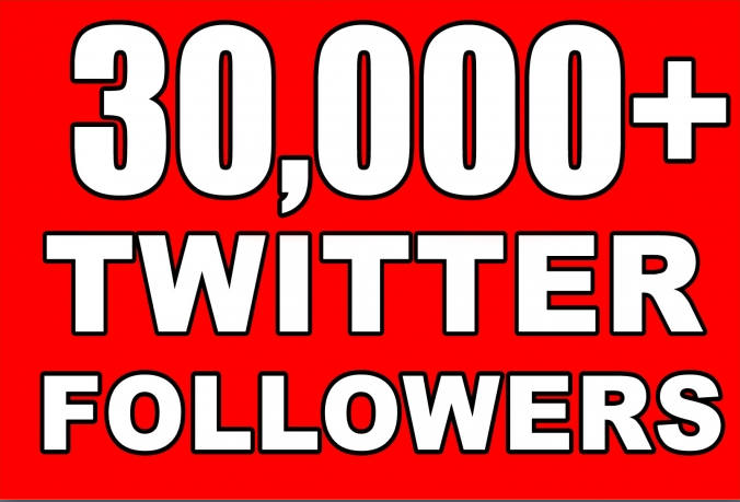 Provide Instantly 30000+ Permanent Twitter Followers Within 24-48 Hours