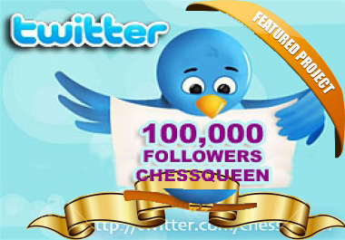 Add Twitter FOLLOWERS 100000+ , 90000+, 80000+, 70000+, 60000+