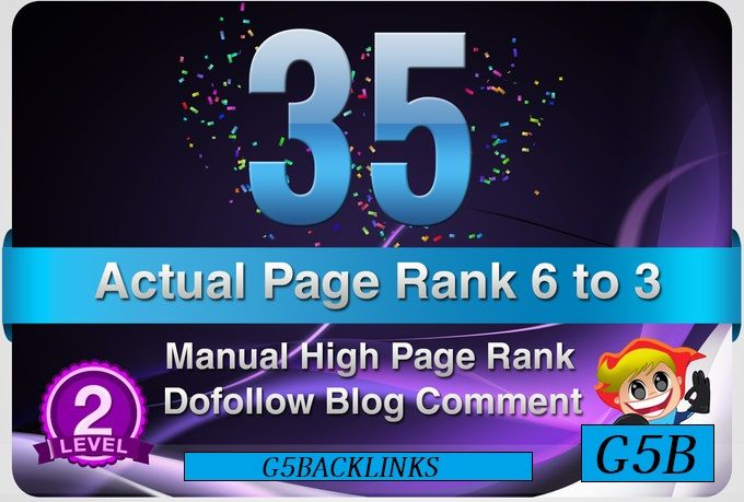 I will provide 35 Manual DoFollow Blog Comment Actual PR 6 To 3